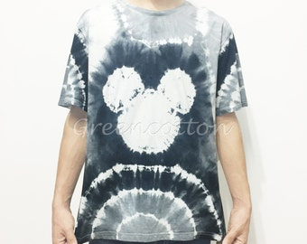 Custom order only - Mickey Mouse Tie Dye Shirt Hippie Tshirt Unisex T-shirt Blue Festival Clothing Trippy Psychedelic Mens Clothing