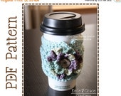 CYBER MONDAY SALE Cup Sleeve Crochet Pattern, Coffee Cozy, Addison - pdf 705
