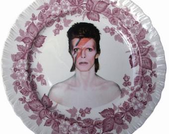"""David Bowie Portrait Plate 10.5"""""""