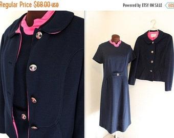 50% OFF SALE SALE 1960s Suit / Cropped Jacket / Wiggle Dress (m-l)