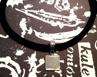 Square MOP Button Choker