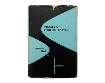 "Alvin Lustig book jacket design, 1951. ""Phases of English Poetry"" by Herbert Read [New Directions, Direction Series]"