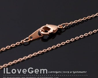 NP-1764 Necklace Chain, Rose Gold plated, 230 Diamond Cut chain, 30 inch, 2pcs / Thin chain, Dainty Chain, Delicate Chain