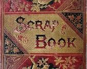 Victorian Scrapbook, Trade Cards Album, Antique Images, 1887, 35 Pages, Original Calling Cards