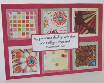 God Will Give You Rest Christian Encouragement Card With Scripture