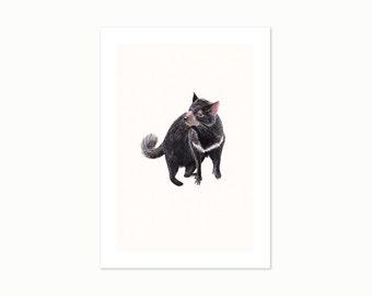 Tassie Devil - A4 Giclee Art Print