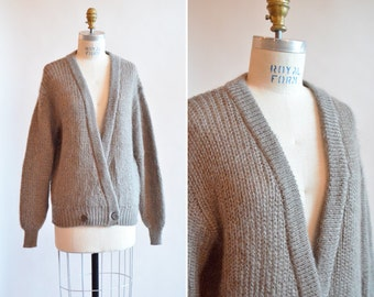 Vintage 1980s MOHAIR and wool blend cardigan