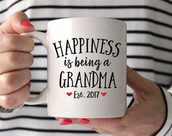 Grandma Gift Grandma to Be Gift New Grandma Gift Pregnancy Announcement to Grandma Pregnancy Reveal to Grandma Mug Coffee Mug Est 2017