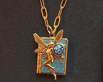 Dancing Fairy Love Book-aquamarine and gold