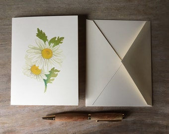 Daisy Note cards - Watercolor Daisy Notecards - Artist Notecards - Stationary set - Gift set - floral