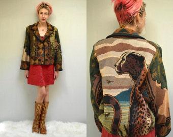Blanket Coat  //  Tapestry Jacket  //  THE CHEETAH