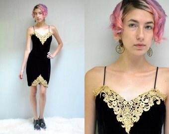 Black Cocktail Dress  //  Little Black Dress  //  Velvet Strappy Dress  //  Black Gold Dress  //  Velvet Party Dress //  GOLD ACCENTS
