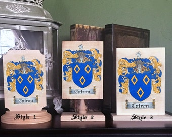 Custom Family Crest Wedding Cake Topper