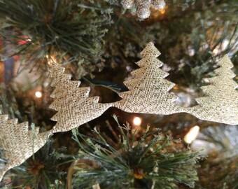 Gold Christmas Tree Ribbon, Garland, Scrap Book Craft Supply