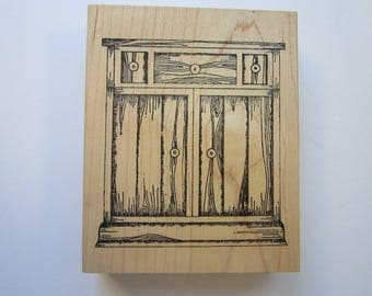 vintage rubber stamp - HUTCH BASE - Lisa Hindsley Stampourri