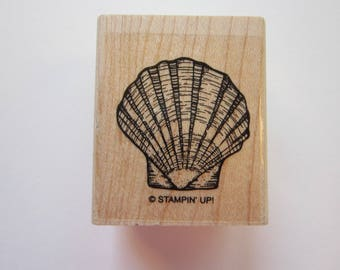 rubber stamp - SCALLOP SHELL - seashell stamp, Stampin' Up