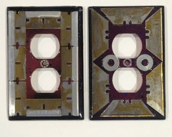 Set of 2 double plug outlet covers