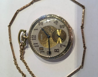 14kt. Solid yellow gold Elgin pocketwatch
