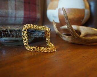 Brass Chain Mail Bracelet