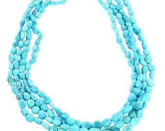 Sleeping Beauty Turquoise Potato Beads 4-7mm 16""