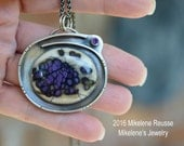 Amethyst Treasure  .... sterling silver statement PENDANT/Focal piece contemporary METALSMITH Artisan jewelry by Mikelene