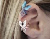 Butterfly Ear Cuff Ear Wraps - Butterfly Jewelry - Clip On Ear Cuff - Fake Piercing - Christmas Gifts For Teens - Teenage Girl Gift Ideas