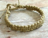 Hemp Necklace Surfer Phatty Thick Square Knot Braid