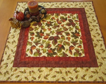 Handmade Table Topper, Quilted Table Topper, Fall Leaves Table top, Home Decor, Table Decor, Table Quilt, Fall Decor, Autumn Colors