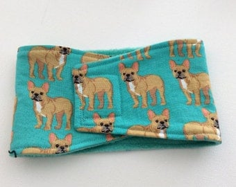 Belly Bands for Male Dogs - Belly Band - Male Dog Diapers - Male Dog Belly Band - Bulldogs -Available in all Sizes