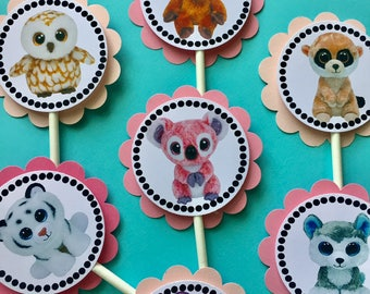 30 Beanie Boo Party Cupcake Toppers *Ready to Ship*