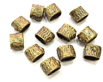 10 Antique Bronze Tube Findings Tube Beads ,Antique Bronze Plated Brass 8x6 mm G6517