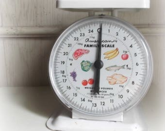 Vintage White Scale Farmhouse Kitchen America Family Scale