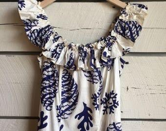 Vintage 1950s paradise sportswear dress • 40s cotton dress • 50s Hawaiian dress