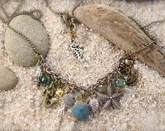Mermaid Ocean Sea Charm Necklace