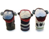 Cate and Levi Handmade Monkey Hand Puppet (Premium Reclaimed Wool), Colors Will Vary