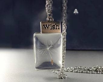 Dandelion Necklace - make a wish