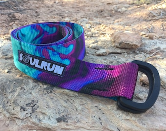 Soulrun Fat Belt - Wicked Purple with Black D-Rings