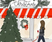 Merry Christmas- In the Village - Holiday - Art for Women - Quotes for Women  - Art for Women - Inspirational Art