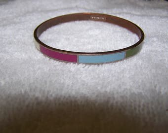 Brass Coach Multicolored Bangle Bracelet