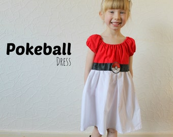 Pokeball Dress - Inspired by Pokemon