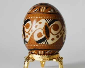 SALE AS IS Trypillian pysanka pagan egg Cucuteni culture design Easter egg ornament chicken egg pysanka
