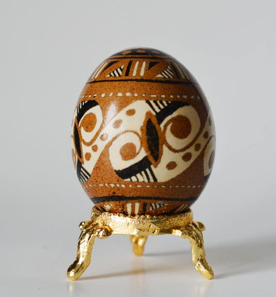 SALE Trypillian pysanka pagan egg Cucuteni culture design Easter egg ornament chicken egg pysanka