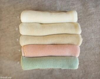 Newborn Wrap, Newborn Stretch Wrap, Knit Wrap, Girl Props, Newborn Props, Baby Props, RTS, Pink, Ivory, Cream, Aqua, Pastels, Cocoon Wraps