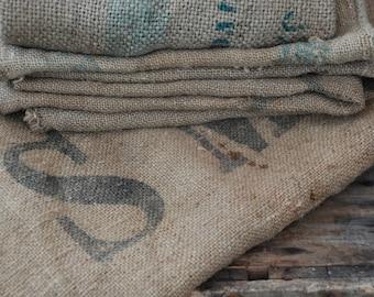 Grain sack fabric etsy for Decorative burlap bags