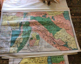SALE!! 5 Vintage Maps Sunday School Bible Maps A.E. Eilers & Co. Middle East. SALE!! Was 499.99 Now 450.00