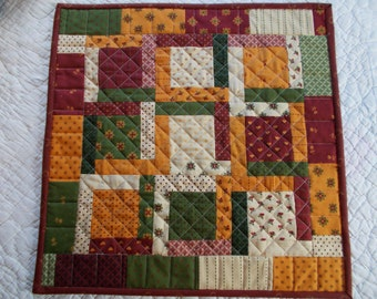 Burgandy Wine and Cheddar Table Runner/Quilted Table Runner