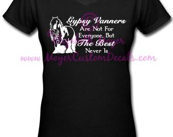 "Gypsy Vanner Drum Horse ""The Best"" Tee, Tshirt, shirt"