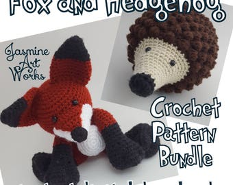 Fox and Hedgehog Crochet Patterns Bundle