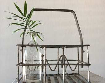 Vintage Wire Bottle Caddy Metal Soda Pop Carrier