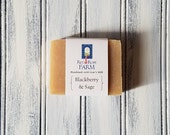 Blackberry Sage Goat's Milk Soap, Cold Process, Extra-Moisturizing, 1 bar